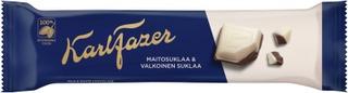 Karl Fazer maitosuklaata ja valkosuklaata suklaapatukka 38g