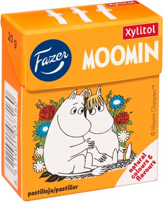 Fazer Moomin 20G Xylitol Hedelmäpastilli