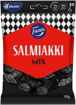 Fazer Salmiakki Mix 180g salmiakkilakritsimakeinen