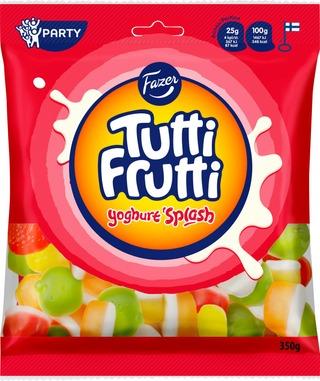 Fazer Tutti Frutti Yoghurt Splash Karkkipussi 350G