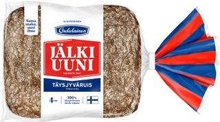 Oululainen Alkuperäinen Jälkiuunipala 4kpl 240g täysjyväruisleipä