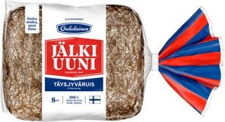 Oululainen Alkuperäinen Jälkiuunipala 8Kpl 480G Täysjyväruisleipä