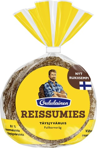 Oululainen Reissumies 4kpl 235g Täysjyväruis täysjyväruisleipä