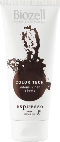 Biozell Professional Color Tech Intensiivinen Sävyte Värjätyille Hiuksille Espresso 200Ml