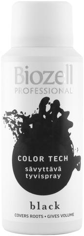 Biozell Professional Color Tech Sävyttävä Tyvispray Black 100Ml