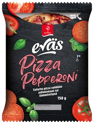 Saarioinen Eväs Pizza Pepperoni, taiteltu pepperonipizza 150g