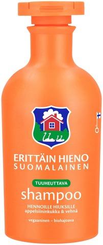Erittäin Hieno Suomalainen Tuuheuttava Shampoo Hennoille Hiuksille Appelsiininkukka & Vehnä 300Ml