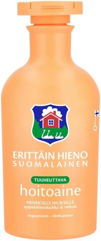 Erittäin Hieno Suomalainen Tuuheuttava Hoitoaine Hennoille Hiuksille Appelsiininkukka & Vehnä 300Ml