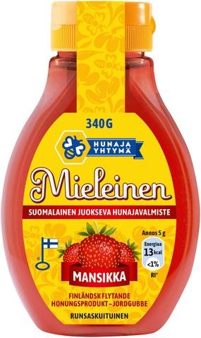 Mieleinen 340G Suomalainen Juokseva Hunajavalmiste Mansikka