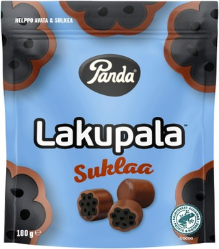 Panda Lakupala Suklaa Lakritsi 180G