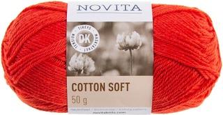 Novita Cotton Soft 50g lanka Punarinta 543 punainen