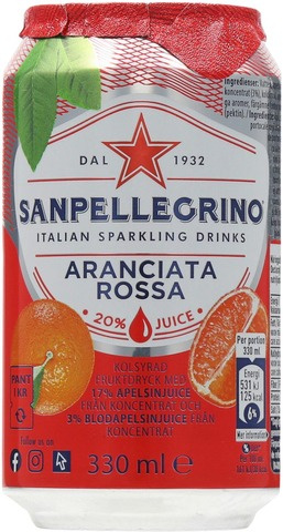 San Pellegrino Aranciata Rossa 33Cl Can