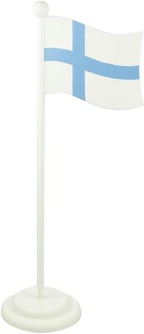 Weiste suomen lippu jalustalla   korkeus 37cm