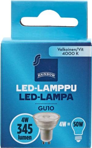 Rainbow Led-Kohdelamppu 4,3W Gu10 350Lm