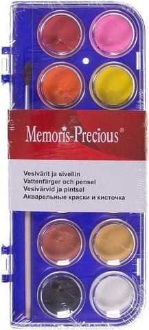Memoris Precious Vesivärit 12 Väriä Ja Sivellin
