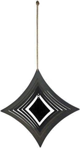 House tuulihyrrä timantti metalli musta