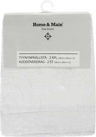 Home&Main Tyynynpäällinen Francine 2Kpl 50X50cm