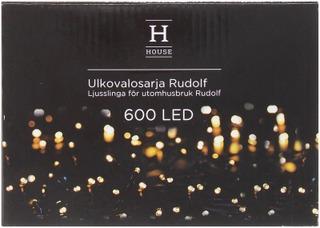 House Rudolf Ulkovalosarja 600Led Ip44