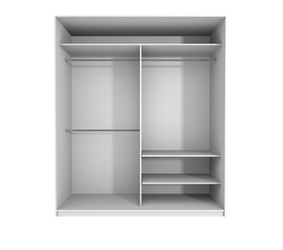 Setdesign18 Liukuovikomero Kirkkain Peiliovin L990 X K2282 X S600 Mm, Valkea