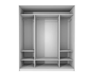 Setdesign19 Liukuovikomero Kirkkain Peiliovin L2576 X K2282 X S600 Mm, Valkea