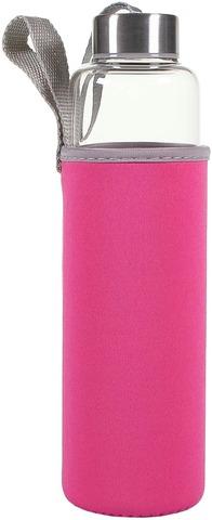 House vesipullo kangassuojalla 0,57 l pinkki