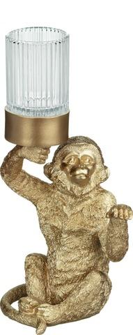 House Lämpökynttilälyhty Apina 30Cm Pronssi