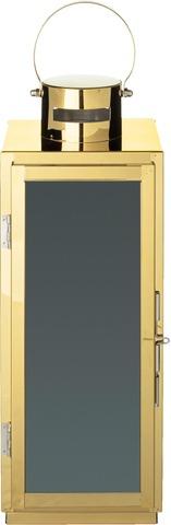 House Metalli Lyhty 32 Cm, Musta Lasi
