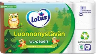 Lotus Luonnonystävän WC-paperi 8 rll