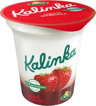 Arla Kalinka 150 G Mansikka Vähälaktoosinen Kerrosjogurtti