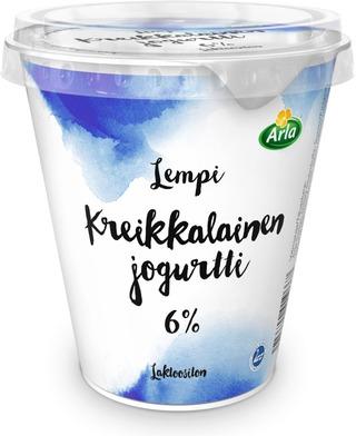 Arla Lempi 300 g Kreikkalainen 6% laktoositon jogurtti