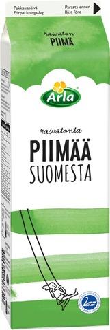 Arla 1L Suomesta Rasvaton Piimä