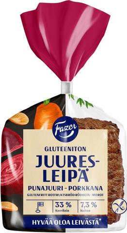Fazer Juuresleipä Gluteeniton 3 Kpl 165G Gluteeniton Sekaleipä
