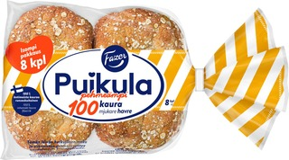 Fazer Puikula Pehmeämpi 100Kaura 8Kpl 440G  Kauraleipä