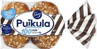Fazer Puikula Pehmeämpi 100Ruis 4Kpl 220G Ruisleipä