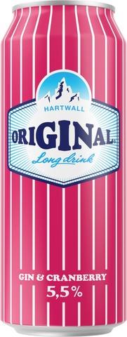 Hartwall Original Cranberry Long Drink 5,5% 0,5 l