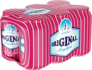 6x Hartwall Original Cranberry Long Drink 5,5% 0,33 l