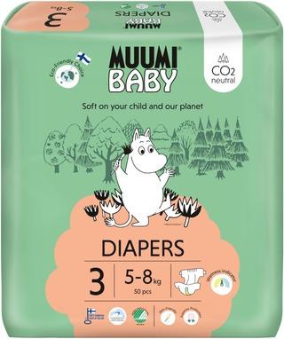 Muumi Baby Diapers Teippivaippa 3 - 50 Kpl 5-8 Kg