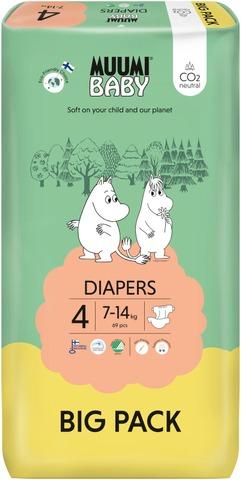 Muumi Baby Diapers Teippivaippa 4 - 69 Kpl 7-14 Kg