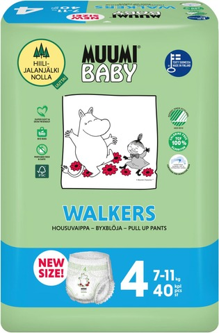Muumi Baby Walkers Housuvaippa 4 - 40 Kpl  7-11 Kg