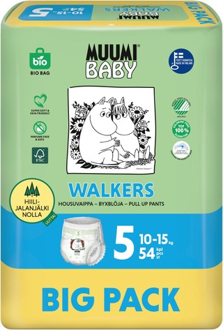 Muumi Baby Walkers Housuvaippa 5 - 54 Kpl 10-15 Kg