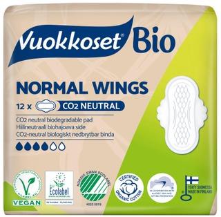 Vuokkoset 100% Bio Normal Wings Ohutside 12 Kpl