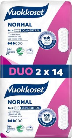 Vuokkoset Normal Duo ohutside 2x14 kpl