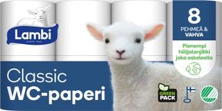 Lambi Wc-Paperi 8 Rl Valkoinen