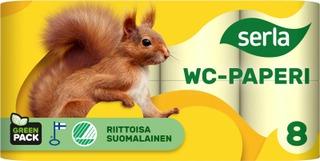 Serla Wc-Paperi 8Rl Keltainen