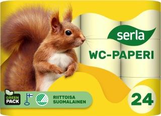 Serla Wc-Paperi 24Rl Keltainen