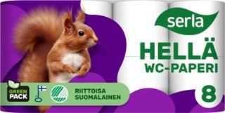 Serla Hellä Wc-Paperi 8Rl Valkoinen