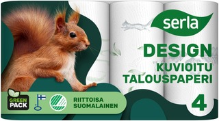 Serla Design Talouspaperi 4Rl Kuvioitu