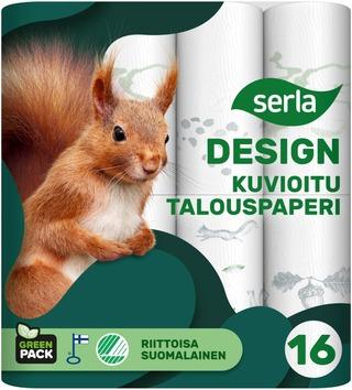 Serla Design Talouspaperi 16Rl Kuvioitu