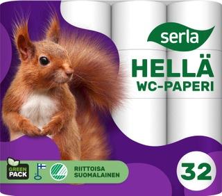 Serla Hellä Wc-Paperi 32Rl Valkoinen