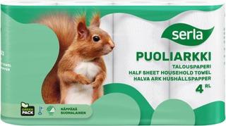 Serla Talouspaperi Puoliarkki 4Rl Valkoinen